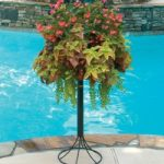 Pamela Crawford Patio Stand w/ basket – 16″